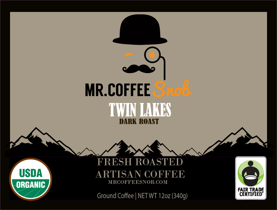 Twin Lakes USDA Certified Organic Coffee-Dark Roast