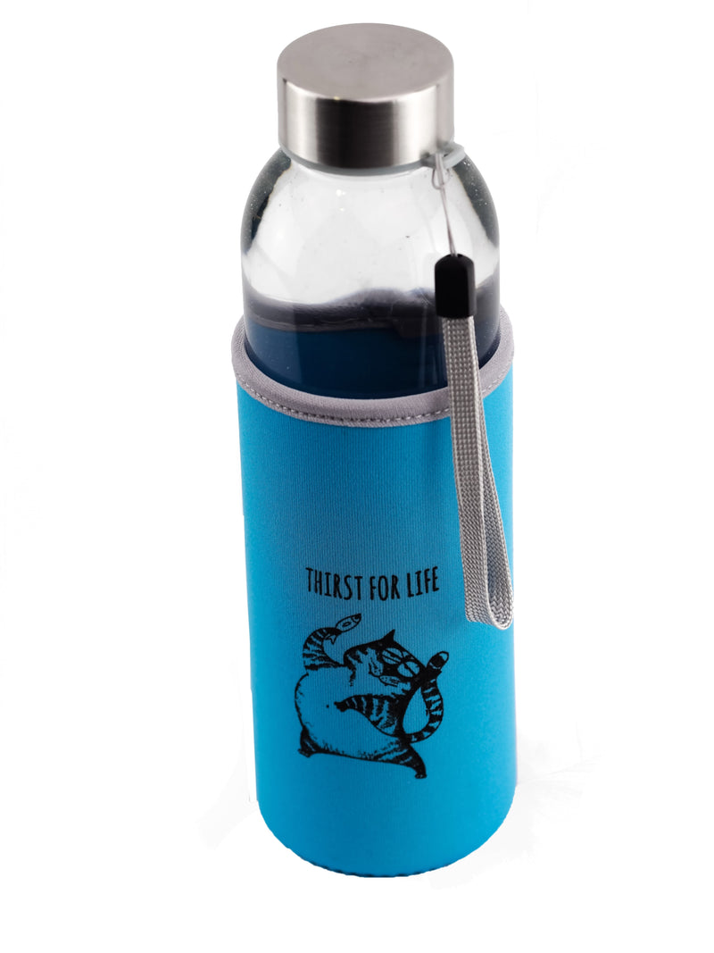 Botella con gato 'Thirst for life' - Caudania