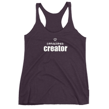 Load image into Gallery viewer, Conscious Creator - Women's Racerback Tank