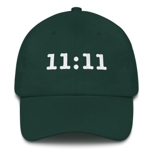 Embroidered 11:11 Hat, Dark