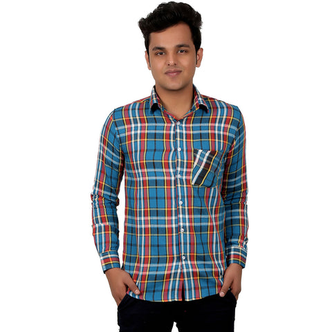Cotton Checked Casual Shirt