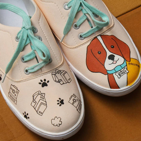 Cute Dog Lovers Shoes for Men