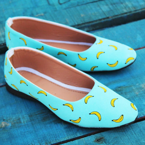 Banana Pattern Ballerinas