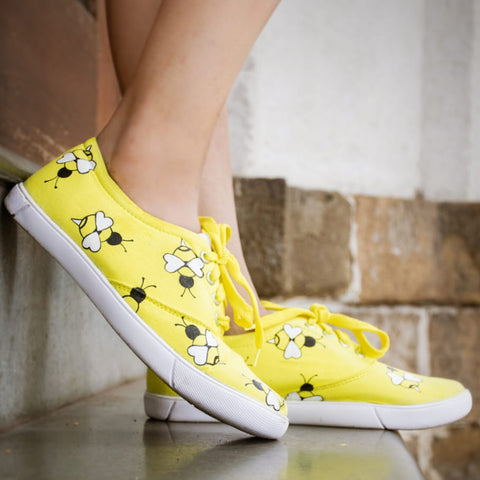 Honey bee shoes for kids