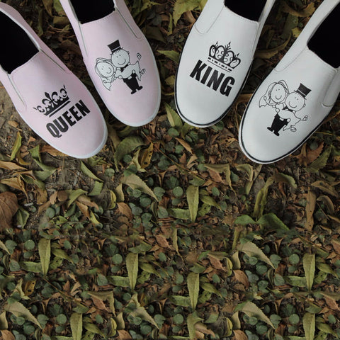King Queen Couple Shoes