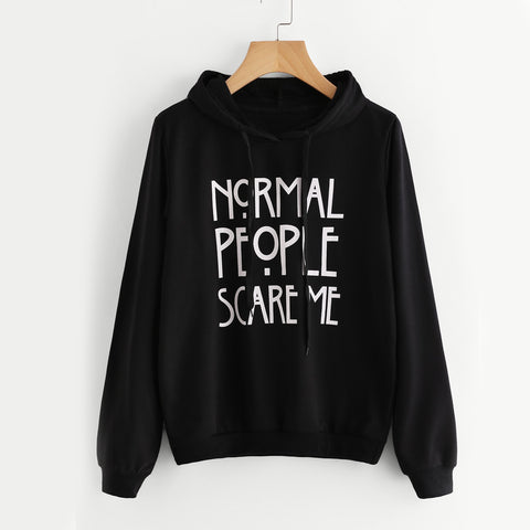 Normal People Scare me Hoodie for Men