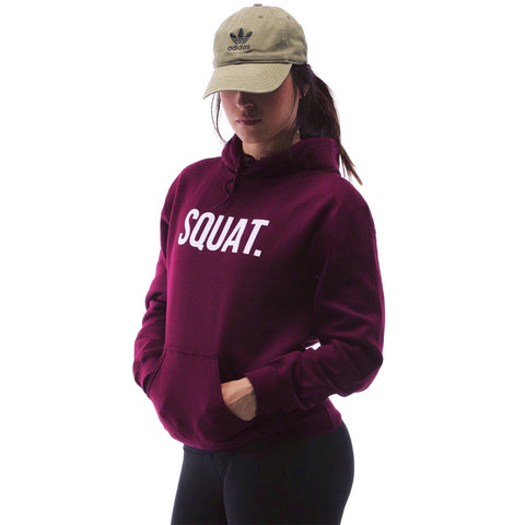 Squat Hoodie for Women in maroon