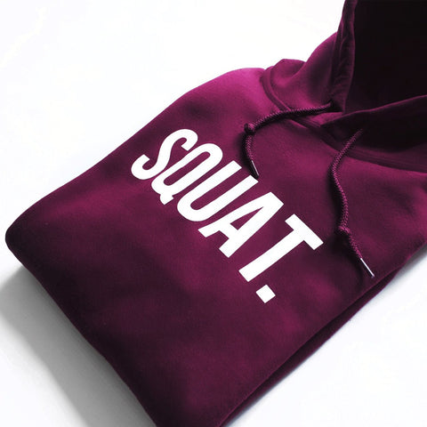Squat Hoodie for Men in maroon