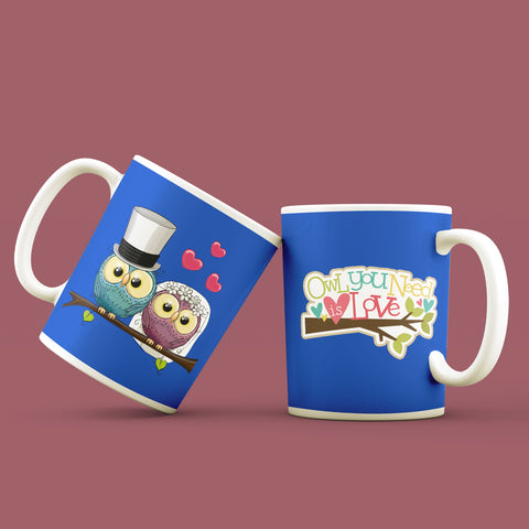 Owl you need is Love Set of 2 Mugs