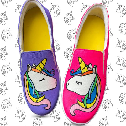 Unicorn Double Color Shoes For Kids