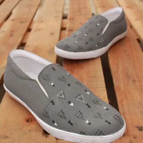 Triangle Grey Shoes For Men