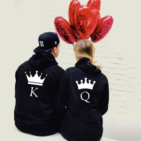 King and Queen Matching Couple Hoodie