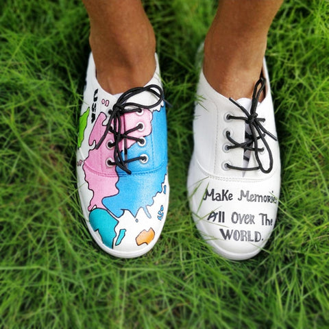 World Map Shoes- for Women