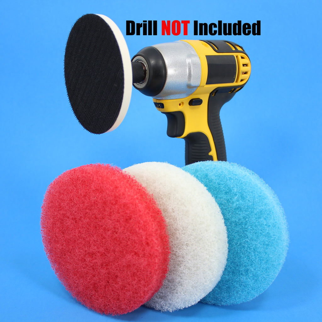 Bathroom Cleaning Power Scrubber Scouring Pad Kit (part number ...