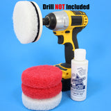 4inch Red and White Scrub Pads with Driver and Bring it On Cleaner