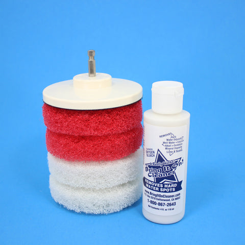 4inch Red And White Scrub Pads With Driver And Bring It On