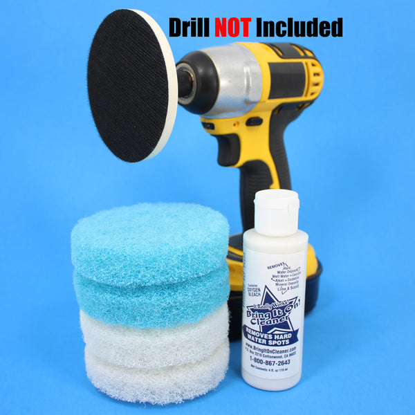 4inch Blue And White Scrub Pads With Driver And Bring It