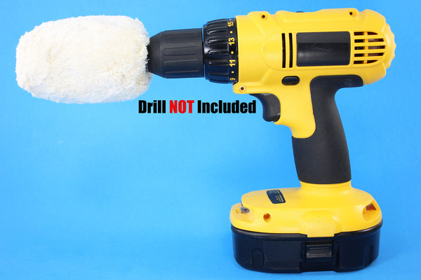Drill Powered Cotton Wheel Buffer Buffer Bit Drill