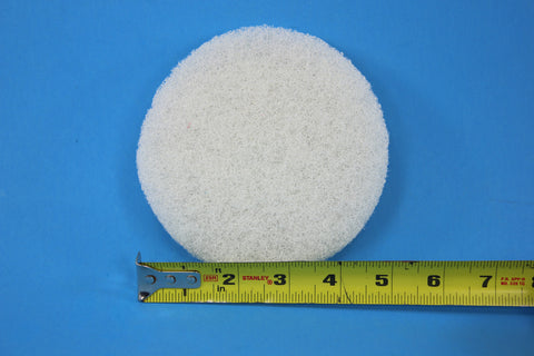 5 inch Diameter White Fine Polishing Pad