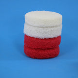 4 inch Red and White Replacement Scrub Pad Refills (part number Refills-4in-Red-Wh)