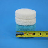 3 inch Blue and White Replacement Scrub Pad Refills (part number Refills-3in-Blu-Wh)