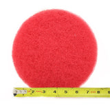 8 Inch Diameter Red Medium Replacement Scrub Pad
