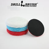 6 inch Velcro Scrub Pad Kit with 5 inch Velcro Driver (part number Velc-5in backer-6in-RD-WH-BLU)