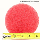 5 inch Diameter Red Medium Scrub Pad