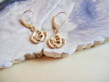 Load image into Gallery viewer, Rose Lever-Back earrings