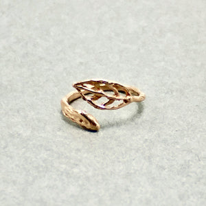 Leaf Open Ring