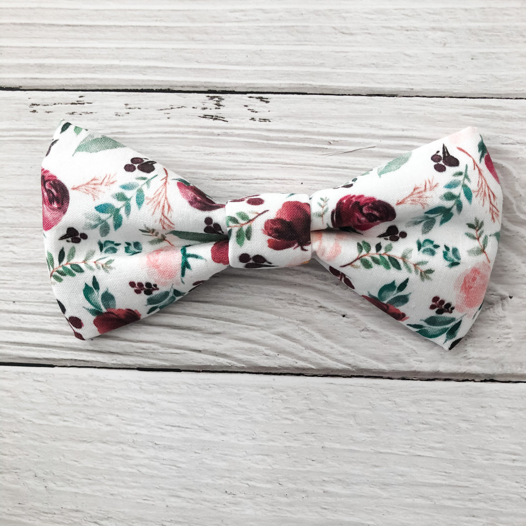 Wine Rose Bow Tie - Downtown Dog