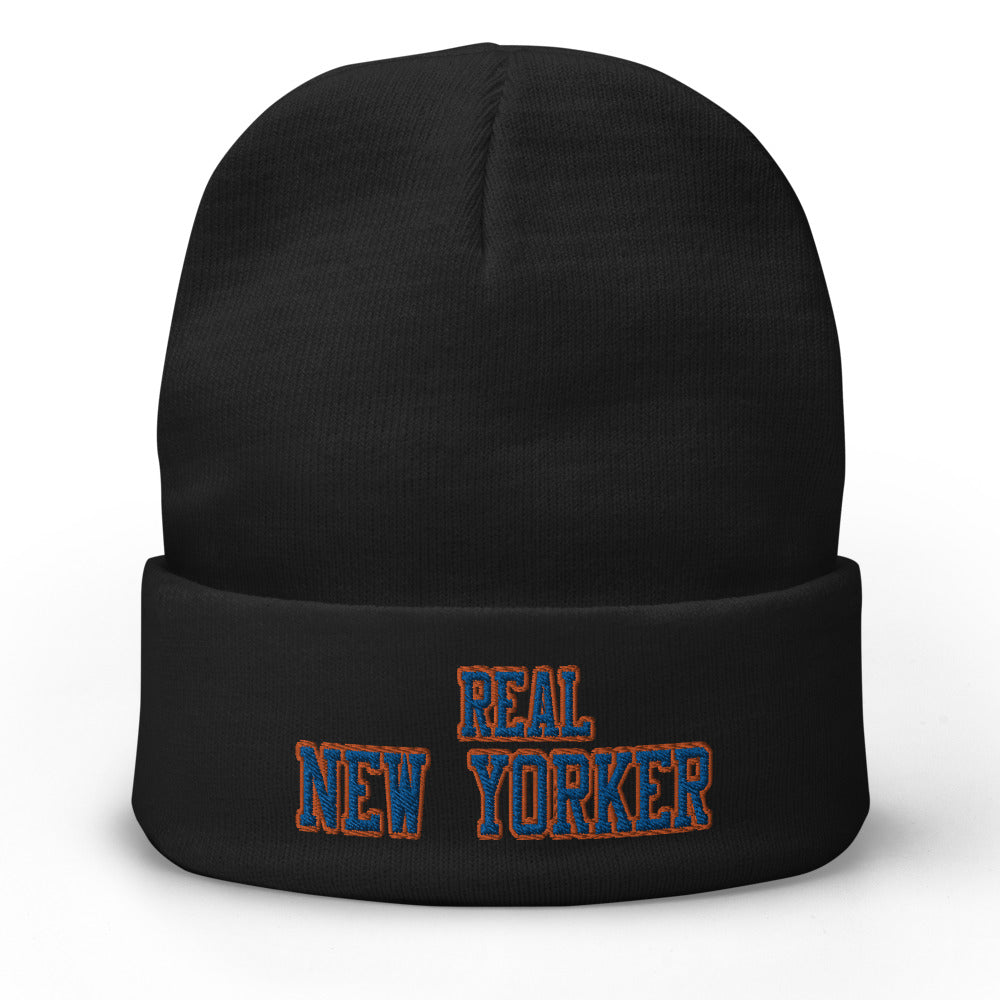 Real New Yorker Embroidered Beanie