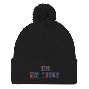 Real New Yorker Pom-Pom Beanie