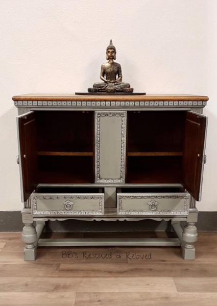 Solid Oak Carved Sideboard