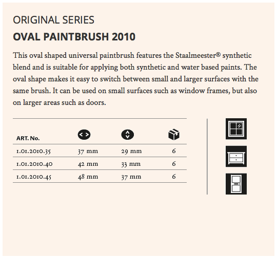 Staalmeester Oval Paint Brush - Series 2010