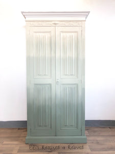 Green Ombre Hall Cupboard, Wardrobe