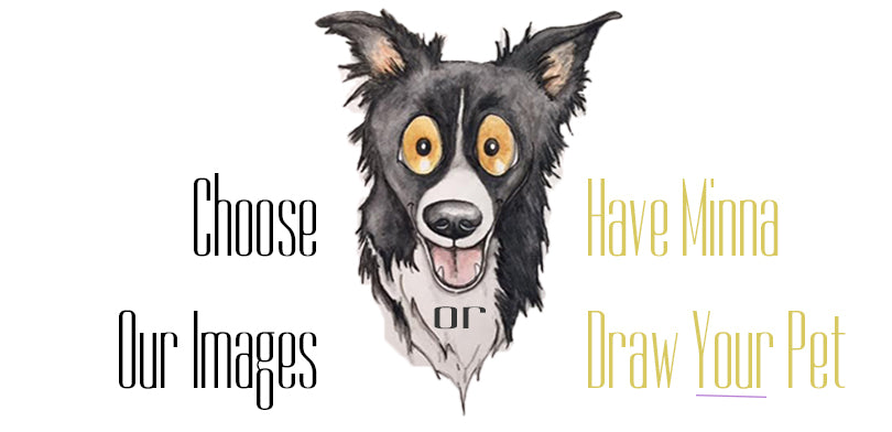 Custom Pet Caricatures, Waggish Designs, Minna Kangas, Animal Prints, Watercolor Art, Animal Art