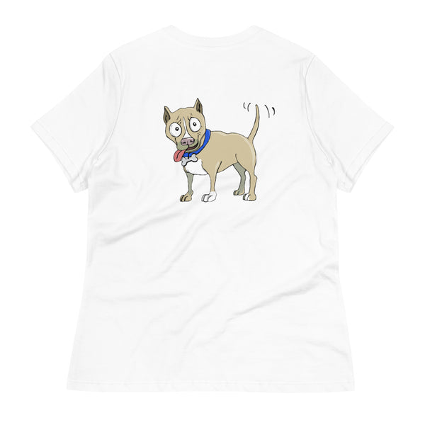 Fawn Pit Bull Women's Relaxed T-Shirt