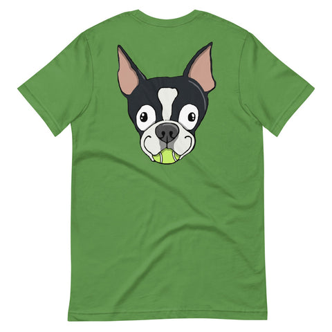 Tennis Ball Boston Terrier Short-Sleeve Unisex T-Shirt