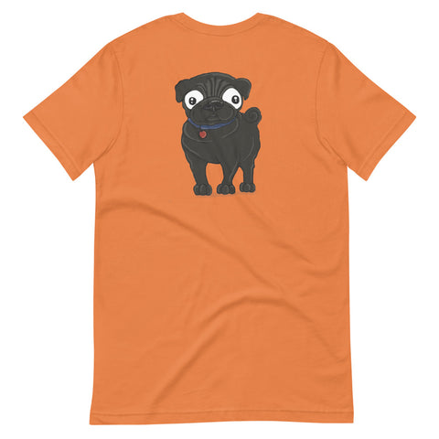 Black Pug Short-Sleeve Unisex T-Shirt