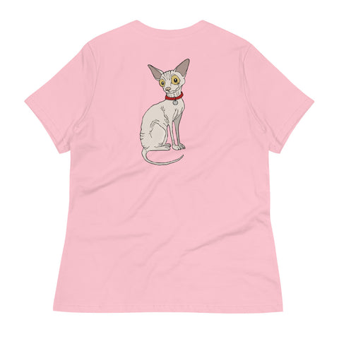 Hairless Sphynx Cat Women's Relaxed T-Shirt