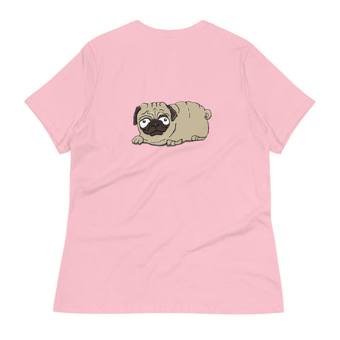 Down Pug Women's Relaxed T-Shirt