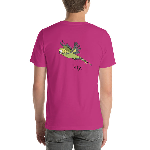 Budgie Flying Short-Sleeve Unisex T-Shirt
