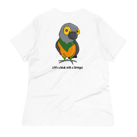 Life's a Beak with a Senegal Women's Relaxed T-Shirt