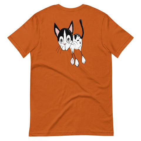 Black and White Cat Short-Sleeve Unisex T-Shirt