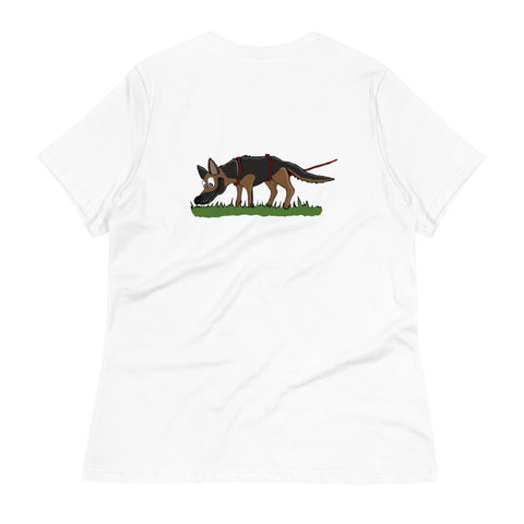 Tracking German Shepherd Women's Relaxed T-Shirt