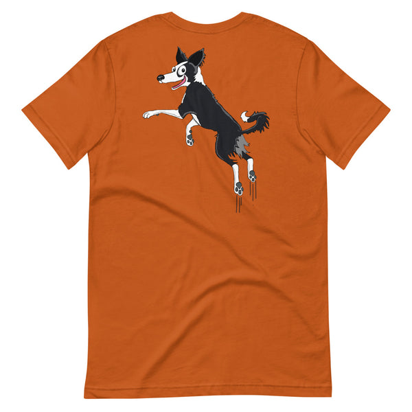Bouncing Border Collie Short-Sleeve Unisex T-Shirt