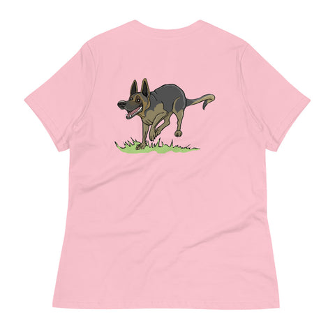 Frolicking German Shepherd Women's Relaxed T-Shirt