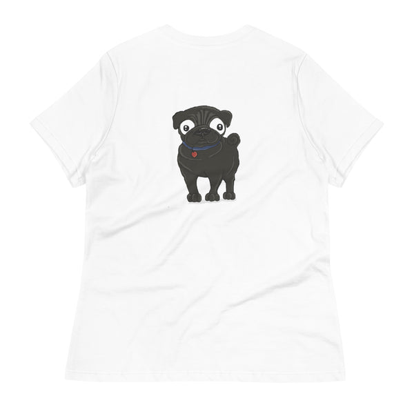 Pug (black) Women's Relaxed T-Shirt