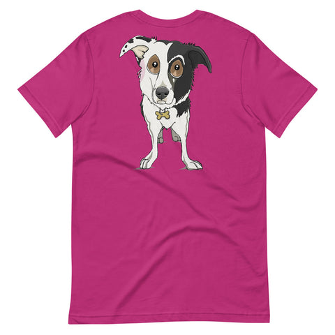 Split Face Border Collie Short-Sleeve Unisex T-Shirt